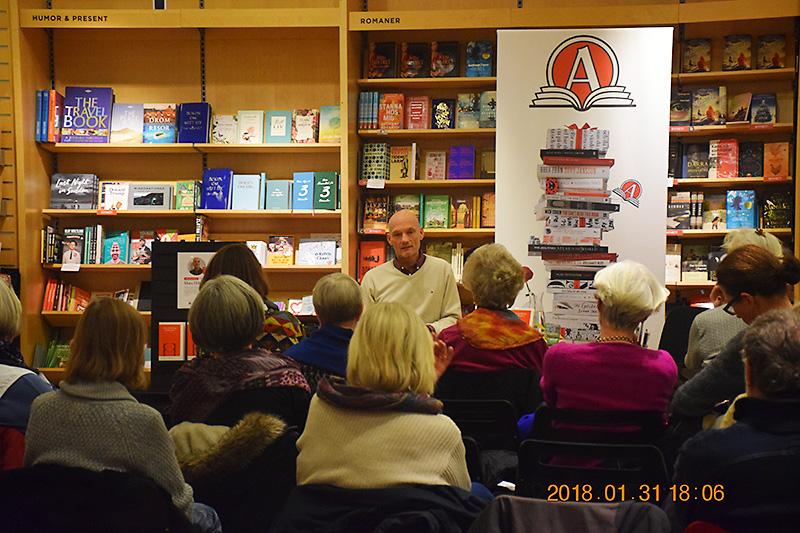 Författarträff 31 januari 2018 på Akademibokhandeln i Lund.